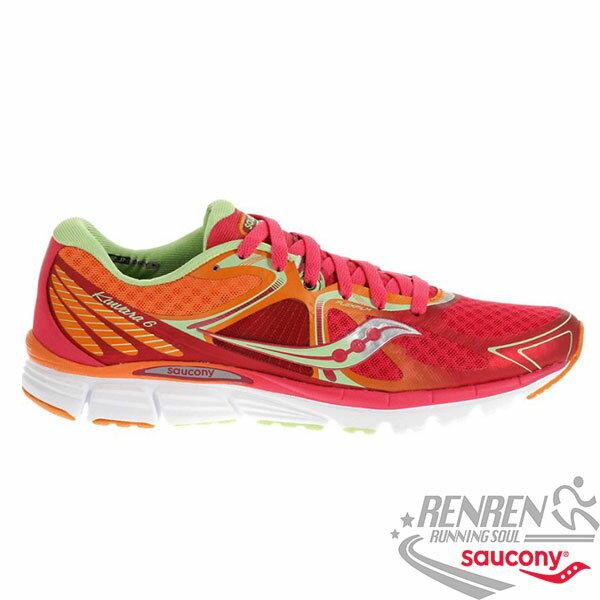 SAUCONY Kinvara 6 女慢跑鞋 (紅*橘) 輕量 自然三系列