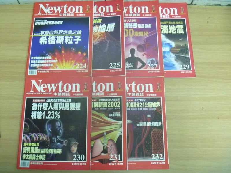 ~書寶 書T3/雜誌期刊_RID~牛頓_224^~232期間_7本合售_希格斯粒子等