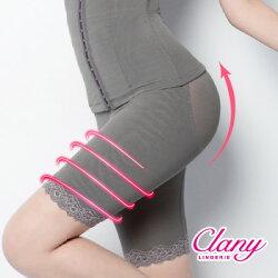 【可蘭霓Clany】560丹重機能雕塑美體M-2XL塑身褲 優雅灰 1926-62