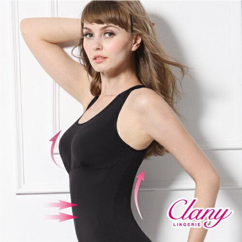 【可蘭霓Clany】Tactel 輕機塑身M-Q(2XL)美體衣 神秘黑 1929-63 0