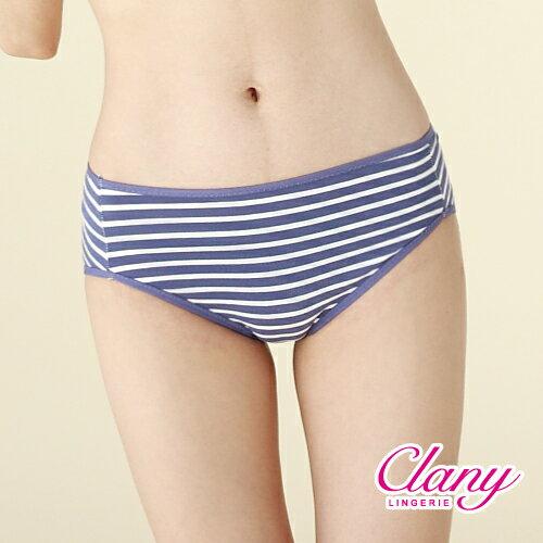 【可蘭霓Clany】棉質簡約條紋M-XL中腰褲(含蓄藍 5387-52) 0
