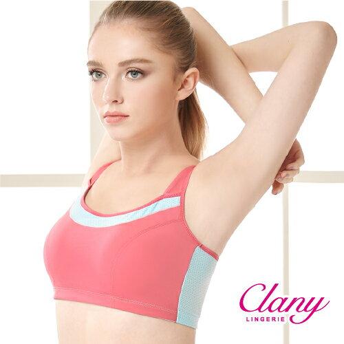 【可蘭霓Clany】降溫涼感透氣M-XL運動內衣  神秘黑 6677-63 1