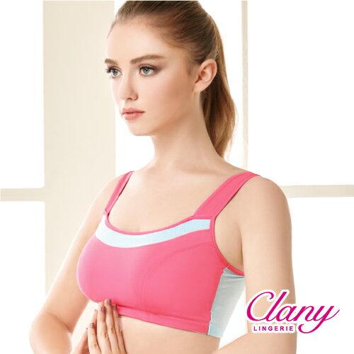 【可蘭霓Clany】降溫涼感透氣M-XL運動內衣  神秘黑 6677-63 4