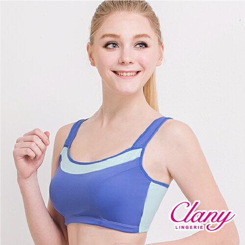 【可蘭霓Clany】降溫涼感透氣M-XL運動內衣  神秘黑 6677-63 2