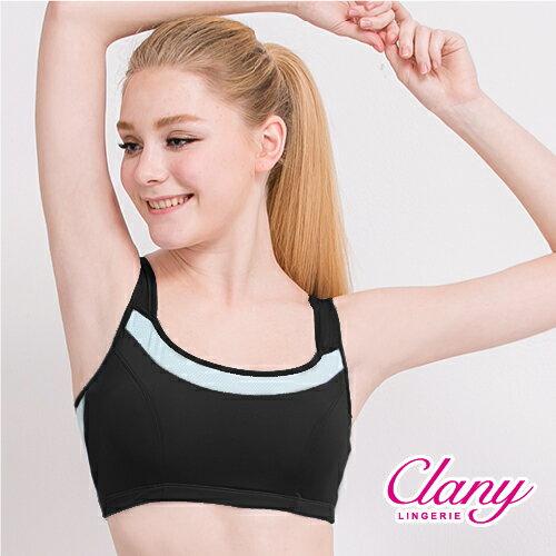 【可蘭霓Clany】降溫涼感透氣M-XL運動內衣  神秘黑 6677-63 0