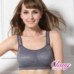 【可蘭霓Clany】冰涼蕾絲M-XL美胸衣 優雅灰 6678-62