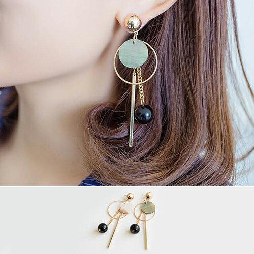 耳環 幾何 圓形 鍊條 金屬 流蘇 甜美 耳環~DD1702010~ BOBI 6  22