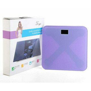 素面優雅平面體重計體重電子秤(紫色款)防側翻✤朵拉伊露✤