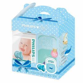 暢貨超值組特賣】Philips飛利浦-安撫奶嘴3號香草1入+小藍鯨收藏盒350元