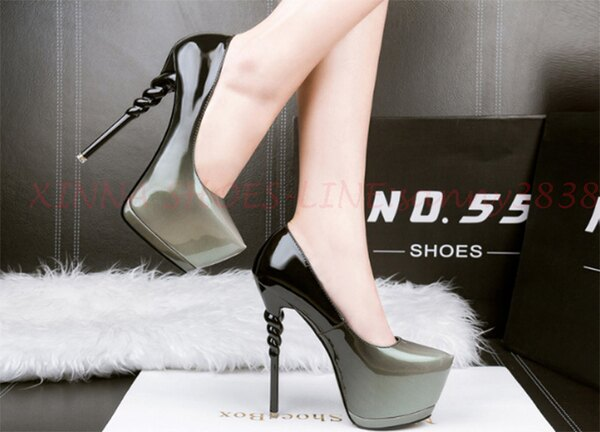 超高跟 包頭  瑪麗珍鞋  下單後請給訊息  NO: YL- 198-2-150-118 [34~39碼]【XINNA SHOES 欣娜女鞋】