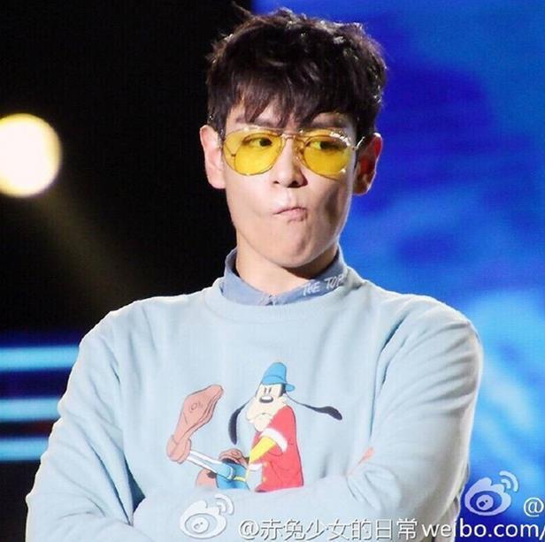 韓國明星權志龍同款黃色透明太陽眼鏡男潮人復古夜視墨鏡女眼鏡架1入