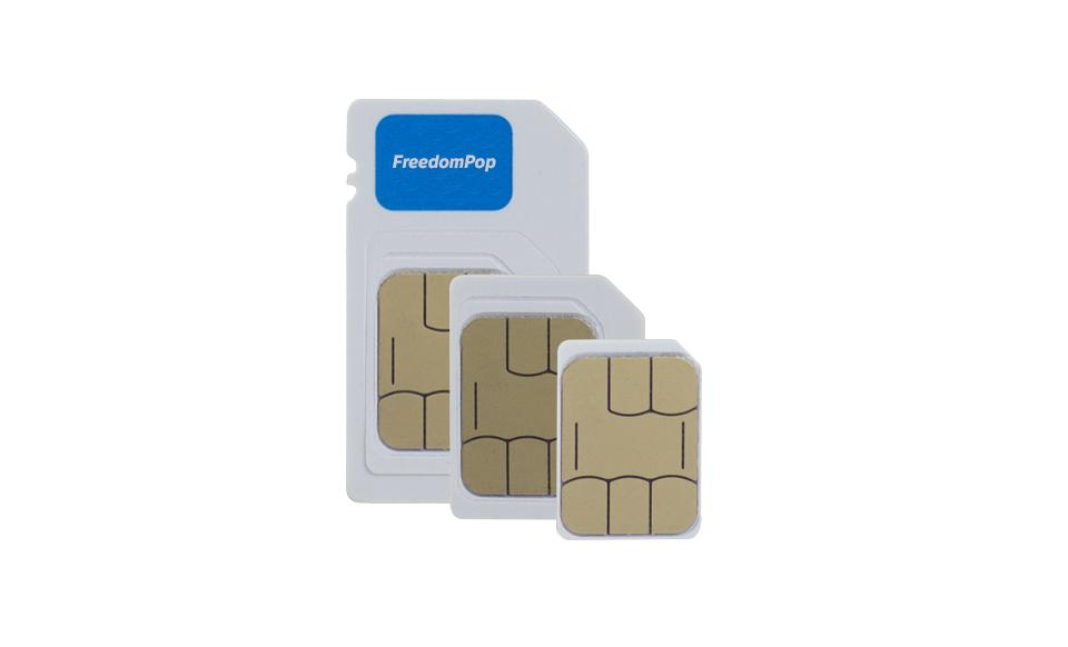 100% Free Talk, Text, & Data w/ 3-in-1 LTE SIM Card Kit - FreedomPop