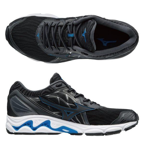 MIZUNOWAVEINSPIRE14男鞋慢跑網布透氣耐磨高避震黑【運動世界】J1GC184410
