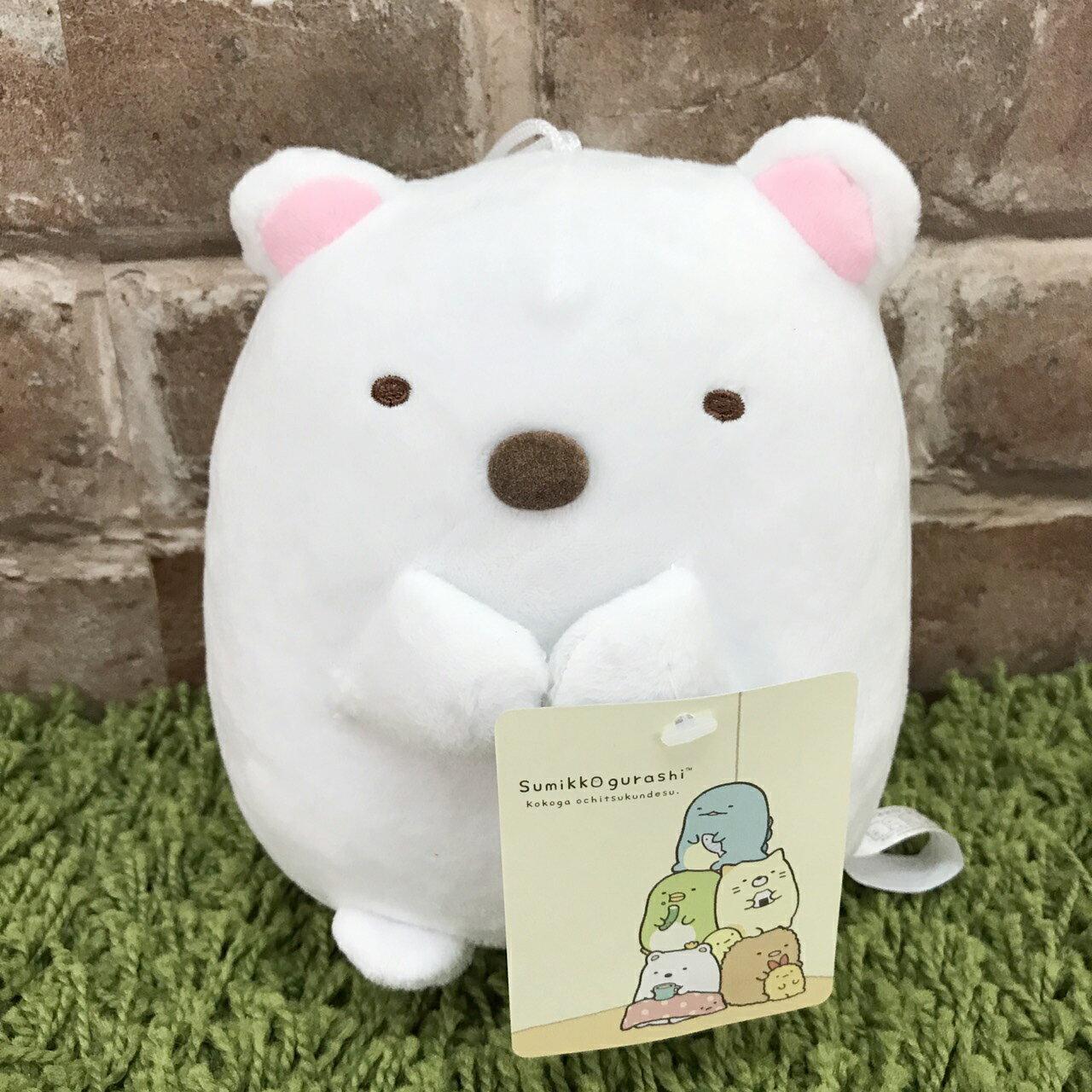 【真愛日本】 17082300003 角落公仔6吋吊娃-北極熊 SAN-X 角落生物 白熊 娃娃 抱枕 玩偶 新品