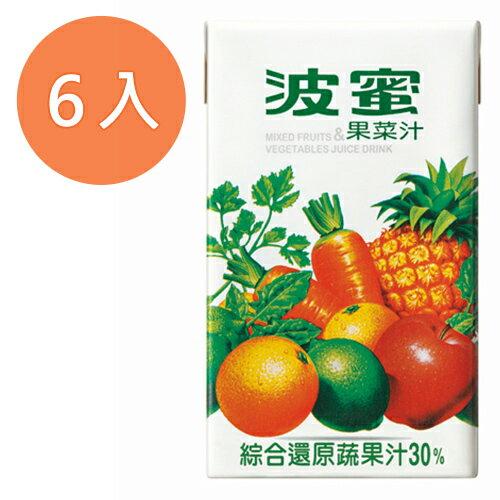 波蜜 果菜汁 鋁箔包 250ml (6入)/組