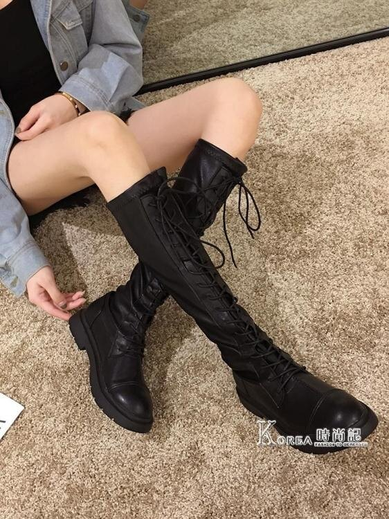 夯貨折扣! 長靴女過膝靴新款秋冬靴子加絨百搭網紅長筒秋款高筒騎士潮冬