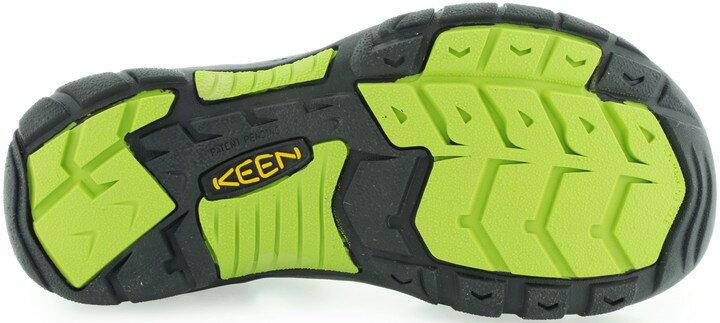 ├登山樂┤美國KEEN NewPort H2兒童護趾涼鞋 黑 / 螢光綠 #1009965 2