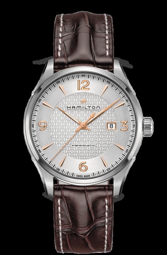 清水鐘錶 Hamilton 漢米爾頓 JazzMaster 紳士自動上鍊機械腕錶  H32755551 咖啡 銀 玫瑰金 44mm