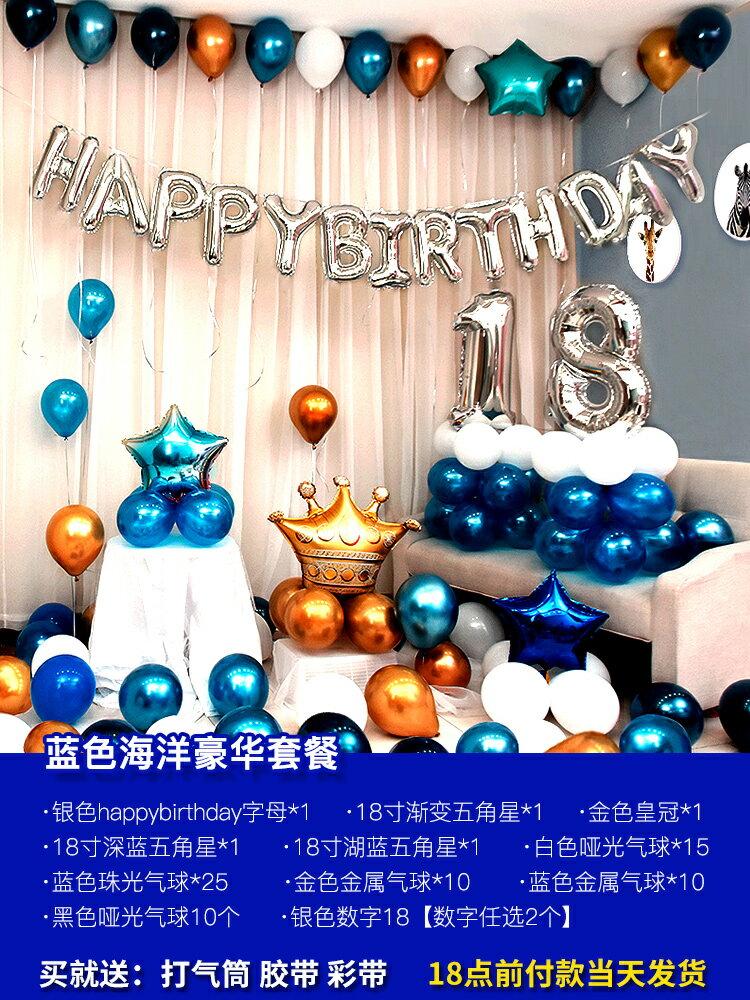 氣球 氣球派對 網紅女孩公主兒童寶寶周歲生日快樂派對背景牆裝飾品氣球場景布置『CM43352』