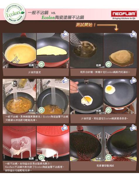 免運費 韓國NEOFLAM Carat系列 28cm陶瓷不沾平底鍋-象牙白 EK-CT-F28(鑽石鍋)