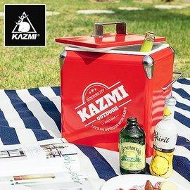 【【蘋果戶外】】KAZMI K6T3A013R 酷樂彩色小冰箱13L 紅色 保冰桶 冰箱 行動冰箱 手提式冰桶