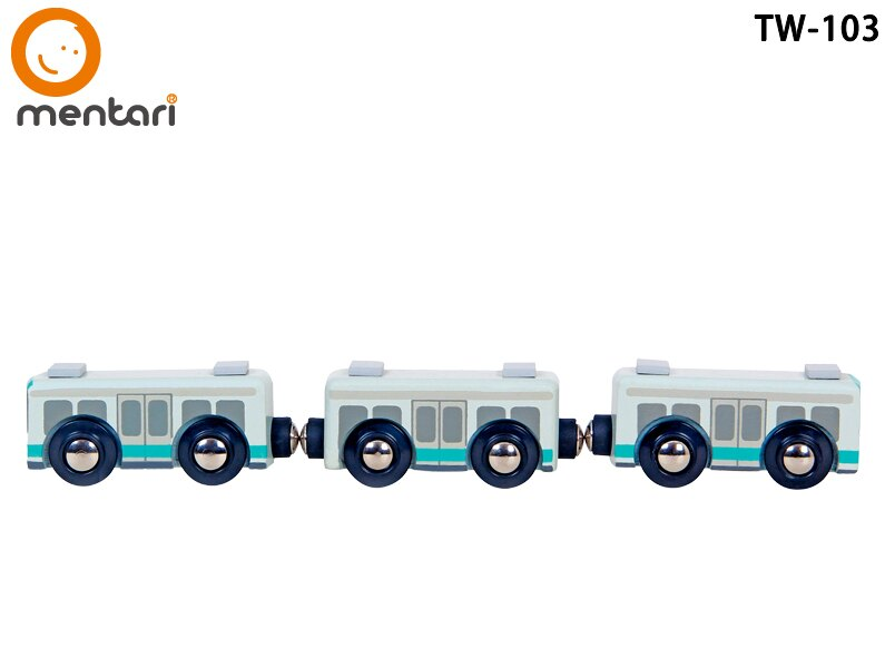 Mentari x 高雄捷運 擬真串接小列車 獨家收藏 | 木製火車玩具配件組