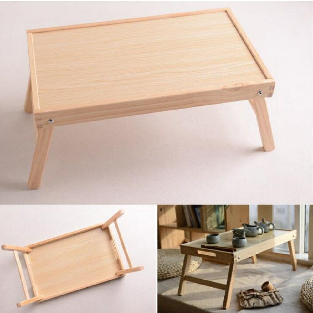 美麗大街 木製框架折疊桌簡易床上桌 露營桌戶外野餐折疊桌 【110042439】