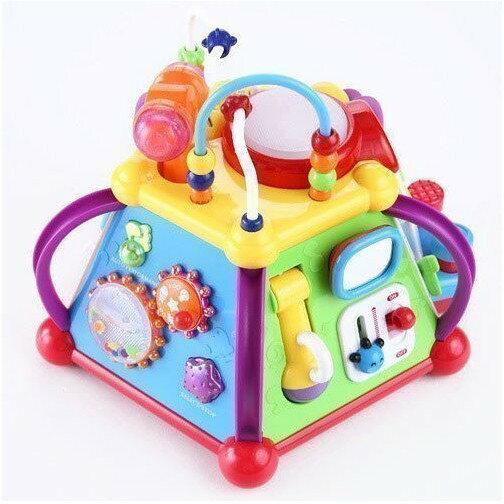 麗嬰兒童玩具館~匯樂-快樂小天地 .多功能六面音樂智慧盒.十五合一超有趣.專櫃同款 1
