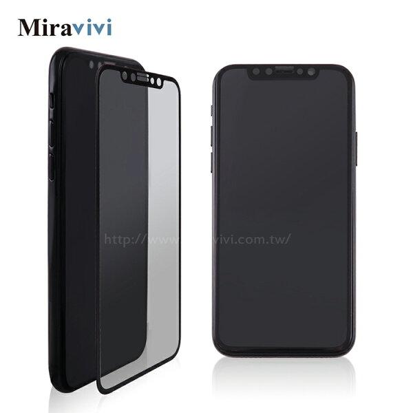 Miravivi:zeusarmor宙斯鎧甲iPhoneX3D滿版9H玻璃保護貼_黑