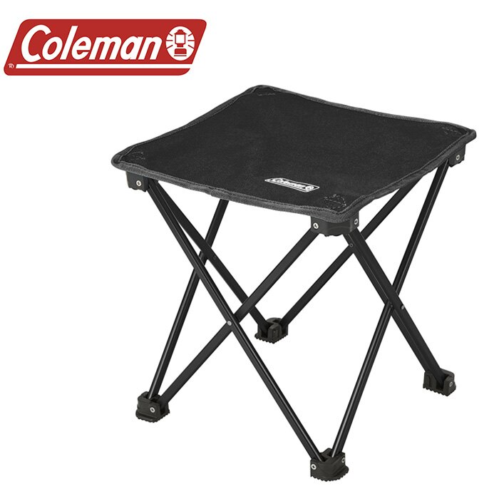 【Coleman 美國】輕便摺疊凳 折疊椅 釣魚椅 童軍椅 休閒椅 黑色 (CM-21982M000)