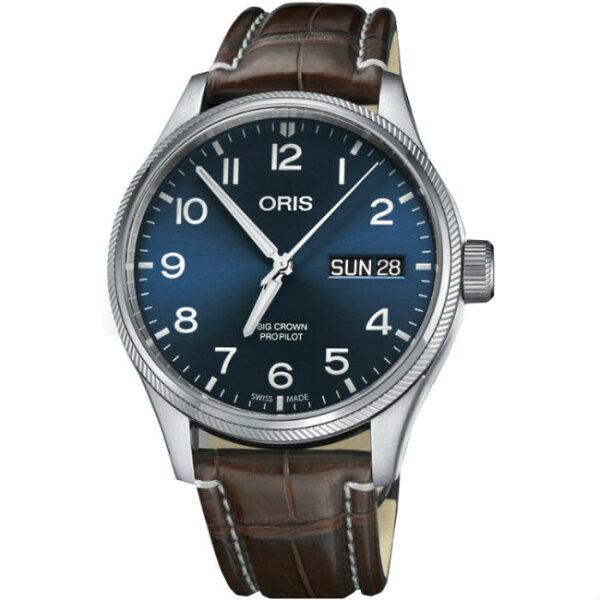ORIS豪利時0175276984065-0712272FCBigCrownPro藍天機械腕錶黑面45mm