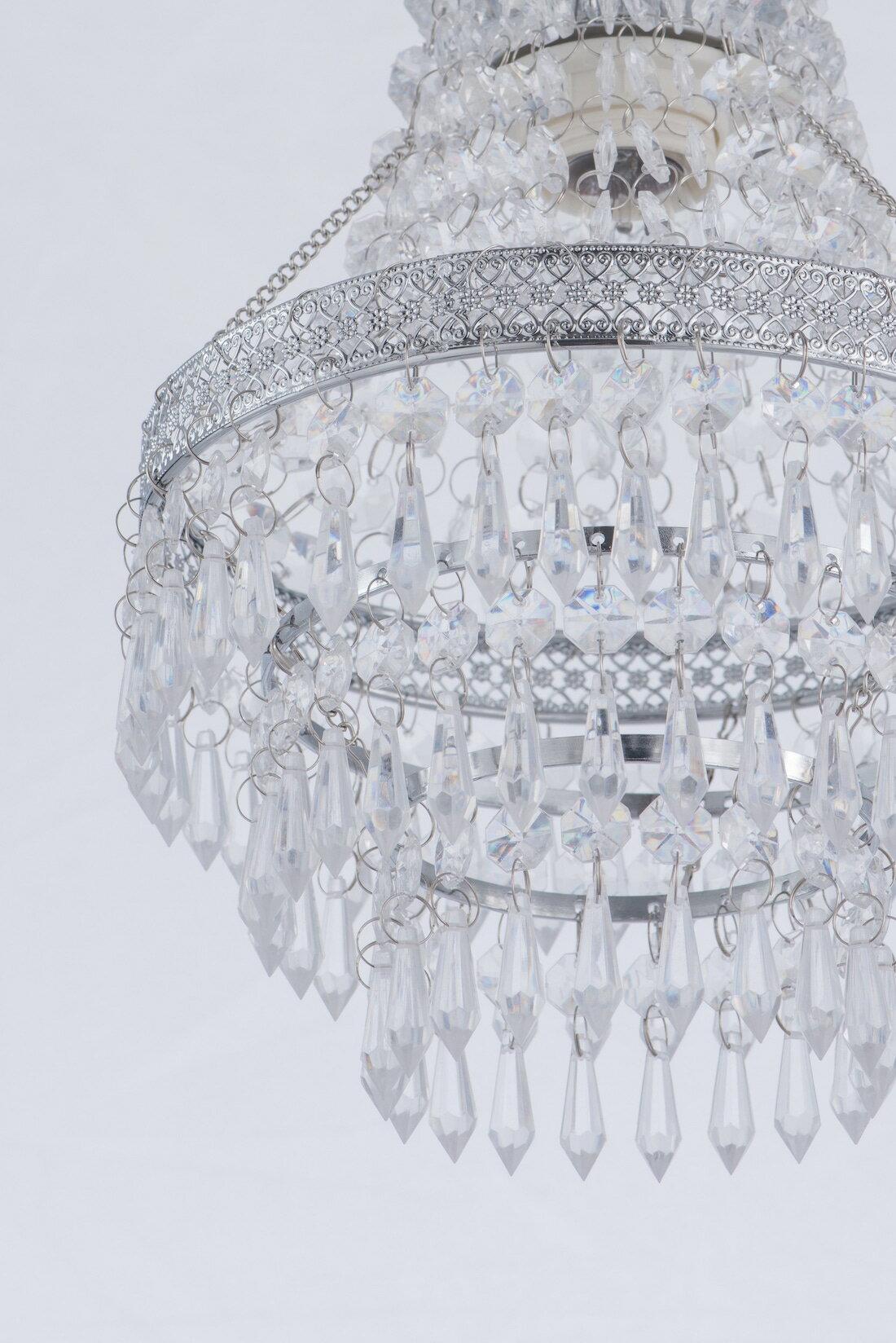鍍鉻色華麗透明壓克力珠吊燈-BNL00022 1
