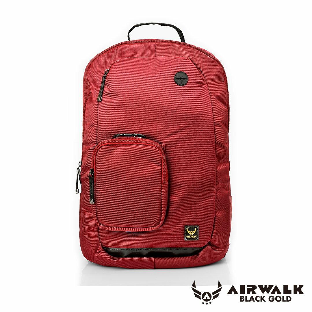 AIRWALK移動裝甲-可拆式母子筆電後背包-紅