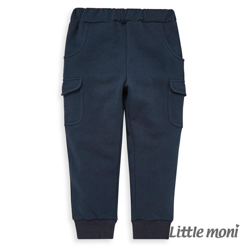 Little moni 口袋裝飾長褲-深藍(好窩生活節) 0