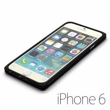 UptionTek Miyabi iPhone 6 4.7吋 IP631 迷霧黑極致輕薄型鋁合金保護框 .