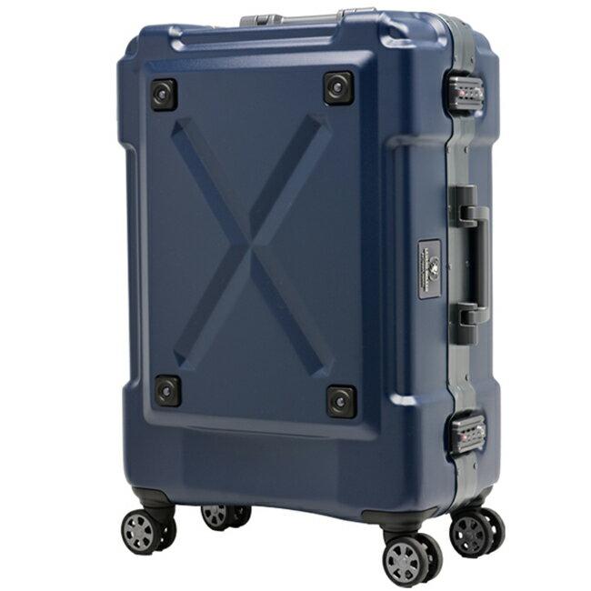 日本 LEGEND WALKER 6302-69-28吋 鋁框密碼鎖輕量行李箱 消光藍