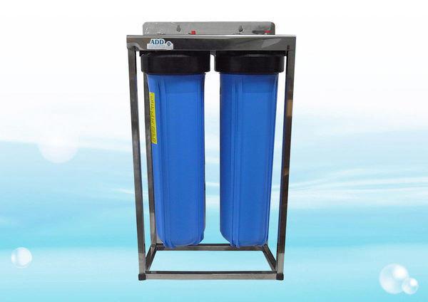 【水易購忠義店】ADD不鏽鋼水塔過濾器《20英吋腳架、大胖2道式 無附濾心》1英吋規格