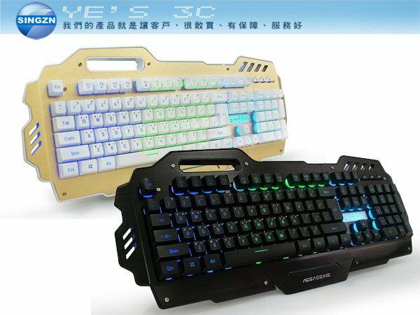 「YEs 3C」aibo AK-7000 黑客暗殺星 背光鍵盤 電勁鍵盤 黑/金 19鍵無衝突 免運