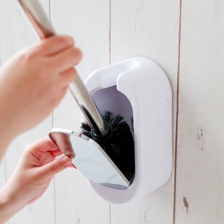 壁掛馬桶刷套裝 衛浴 馬桶 馬桶刷 收納 清潔 刷具 居家 無痕貼 壁掛【B063108】