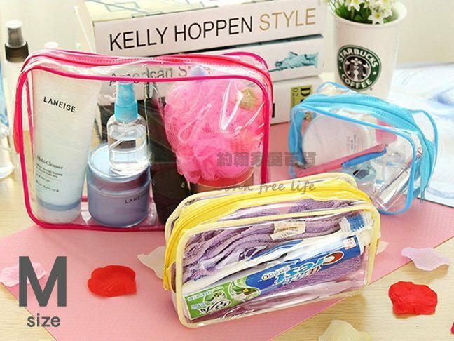 約翰家庭百貨》【YX061】PVC透明旅行防水盥洗包 洗漱包 化妝包 多功能浴室收納包 旅行手袋 中號 隨機出貨