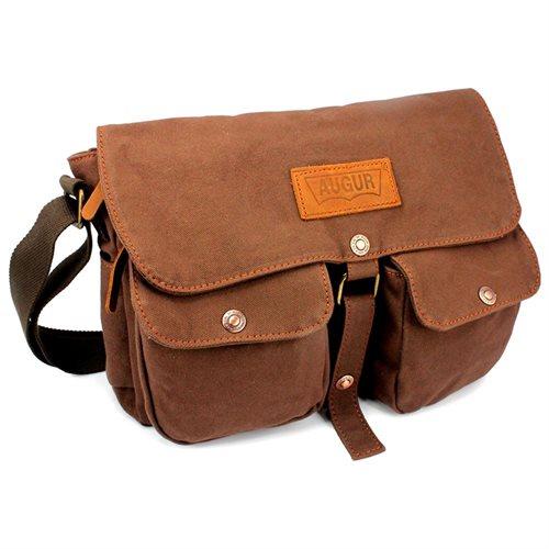 Men s Vintage Canvas Leather Satchel School Military Shoulder Messenger  Crossbody Hiking Bag - Coffee 0 fa5928eef42ad