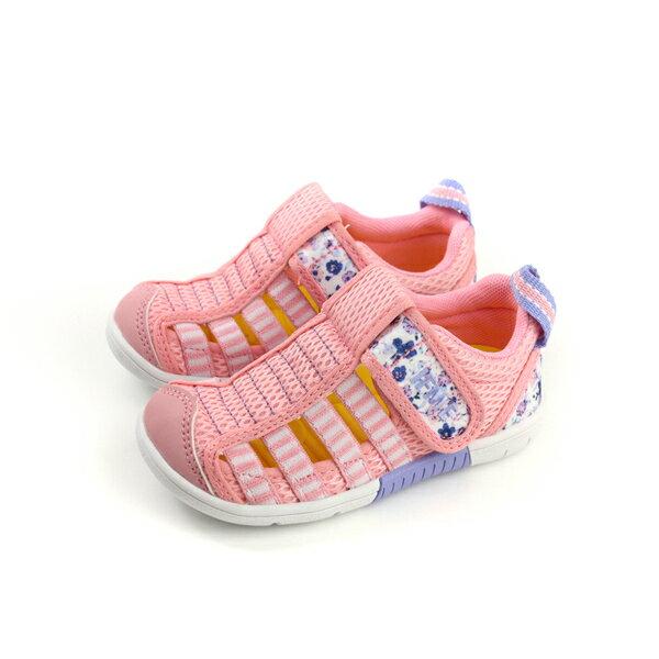 IFME運動鞋機能鞋魔鬼氈粉紅色中童童鞋IF22-802133no070