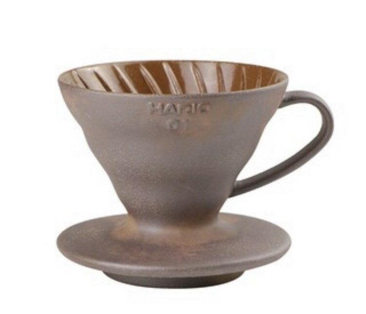 金時代書香咖啡 HARIO V60 老岩泥濾杯 1-2人份 VDCR-01-BR