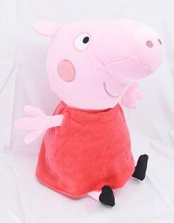 X射線【C040347】粉紅豬小妹PeppaPig12吋玩偶-佩佩豬,絨毛填充玩偶玩具公仔抱枕靠枕娃娃