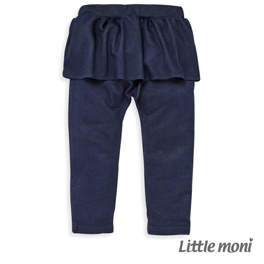 Little moni 針織仿牛仔褲裙-深藍(好窩生活節) 0