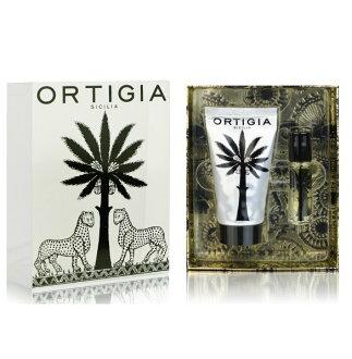 歐媞迦 Ortigia - Ambra Nera - 溫暖琥珀 護手霜&香水滾珠瓶 禮盒組 (柔軟辛辣香調) *** 2件組+原廠精美包裝禮盒