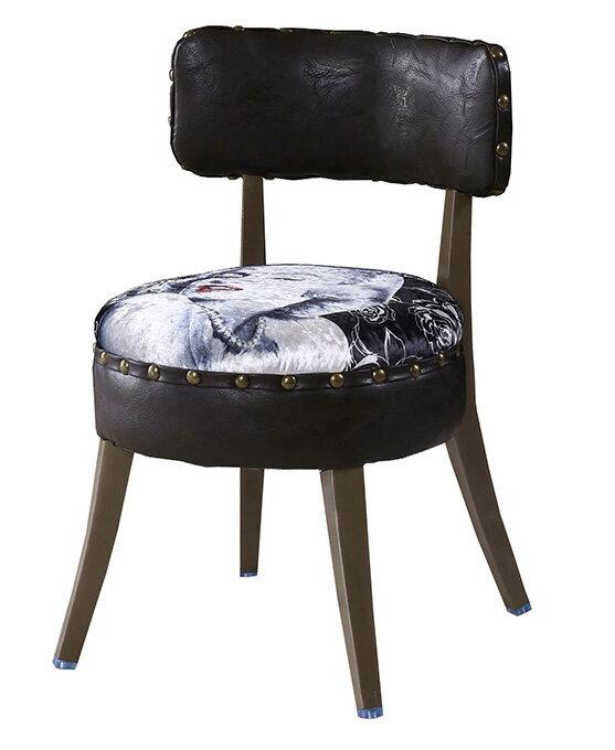 ~ 尚品傢俱~JF~486~8 瑪麗蓮鉚釘皮餐椅