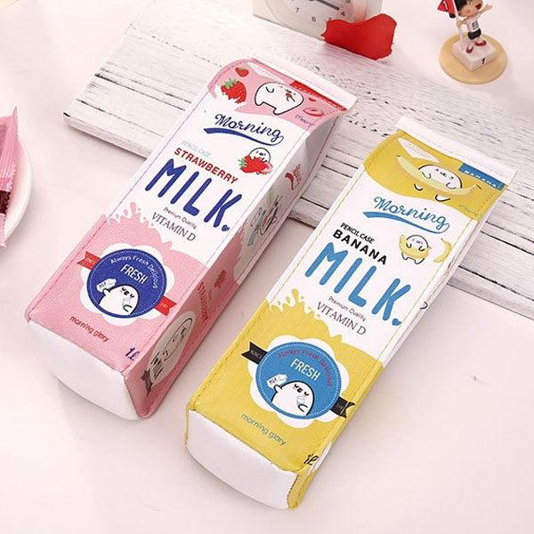筆袋-日本可愛繽紛牛奶盒熊貓小海狗防水大容量收納袋 筆袋 鉛筆盒 文具收納【AN SHOP】
