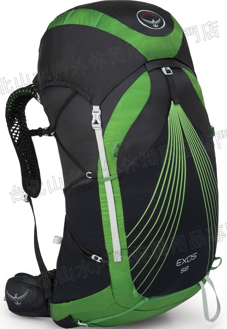 [ Osprey ] Exos 58 逸流 透氣網背後背包/登山包/輕量化背包 58公升 玄武岩/台北山水