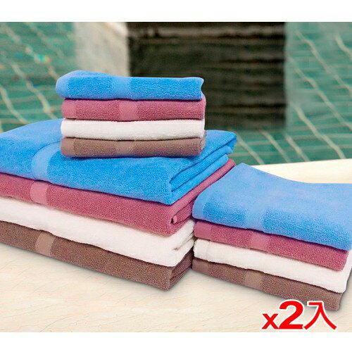 ~2件 組~純棉飯店級浴巾~亞麻棕 68~137cm ~愛買~